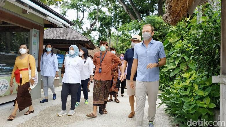 Menparekraf Sandiaga Uno kunjungi waterboom Bali