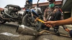 233 Knalpot Racing di Aceh Dimusnahkan Polisi