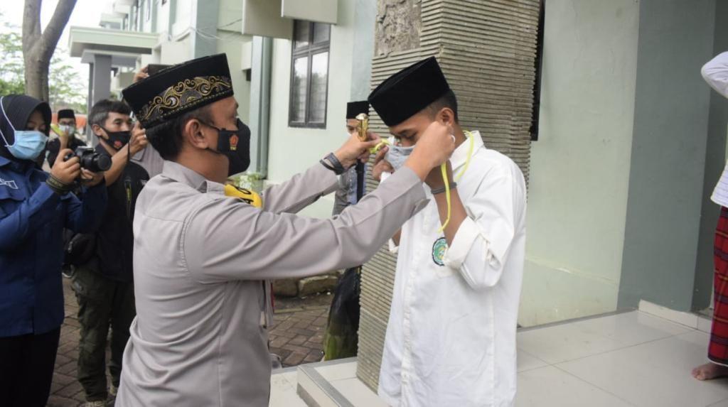 Tiga Ponpes Jadi Sasaran Gerakan Santri Bermasker di Kota Pasuruan