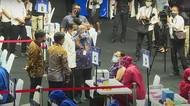 Presiden Jokowi Hadiri Pelaksanaan Vaksinasi COVID-19 Awak Media