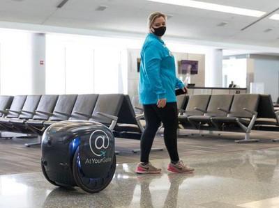 Foto: Robot Gita, Si Pengantar Makanan di Bandara