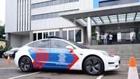 Wih! Korlantas Polri Pakai Tesla Model 3 untuk Mobil Patroli
