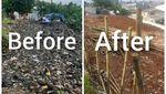 Warga Sukamaju Baru Depok Ramai-ramai Bersihkan Sampah