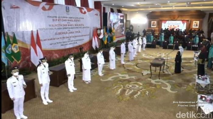 17 Bupati/Wali Kota terpilih di Jawa Timur dilantik hari ini