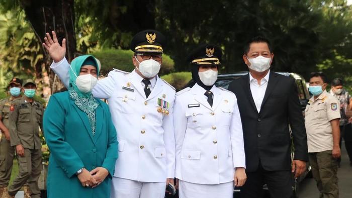 Danny-Fatma usai dilantik jadi Walkot-Wawalkot Makassar (dok. Istimewa).