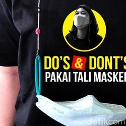 Dos and Donts Pakai Tali Masker, Aksesoris yang Disorot Satgas COVID-19