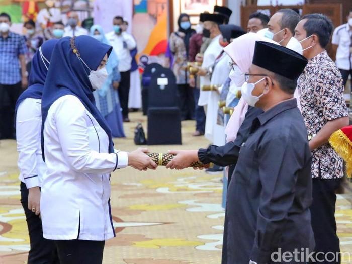 Gladi Bersih Pelantikan Kepala Daerah di Grahadi pada Rabu (24/2)
