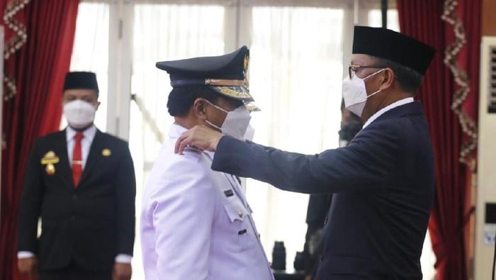 Gubernur Sulsel Nurdin Abdullah melantik 11 kepala daerah terpilih di Pilkada Serentak 2020 (dok. Humas Pemprov Sulsel).