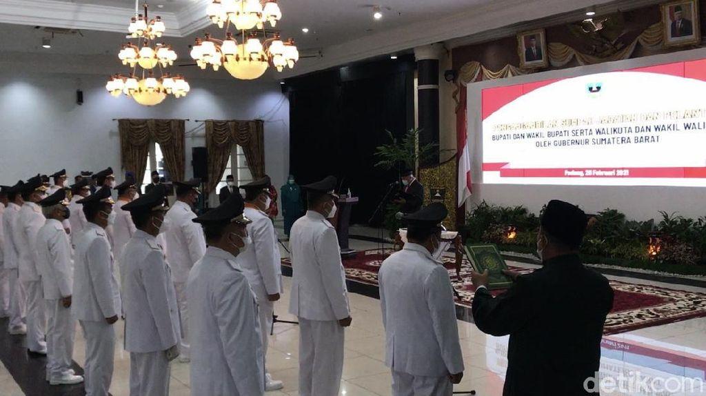 11 Kepala Daerah di Sumbar Dilantik, Kabupaten Solok Masih Tunggu Putusan MK