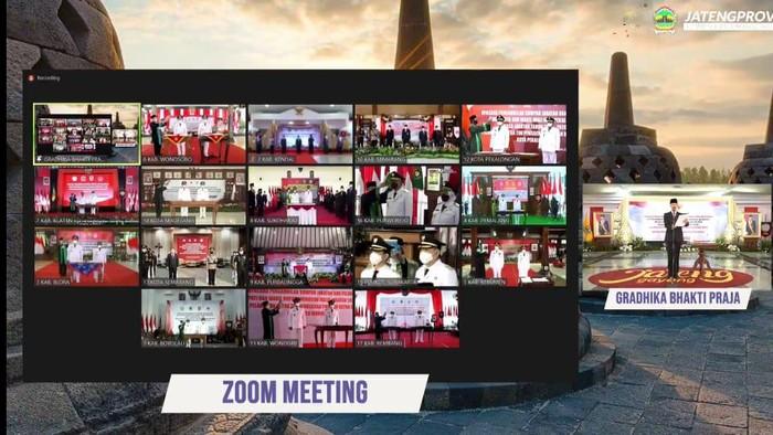 Pelantikan Kepala Daerah di Jateng secara virtual