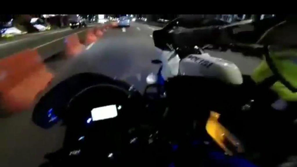 Viral Pemotor Kebut-kebutan Dikejar Polisi di Semanggi, Begini Ceritanya