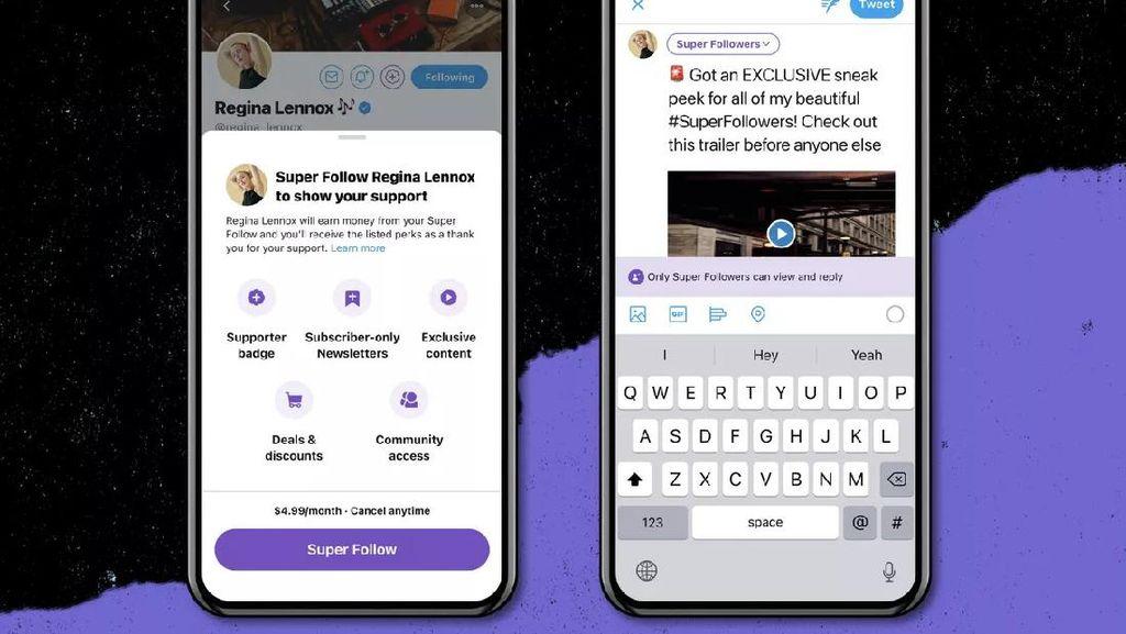 Twitter Umumkan Fitur Super Follows untuk Lihat Konten Berbayar