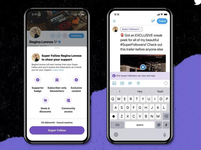 Twitter umumkan fitur super Follows dan Communities
