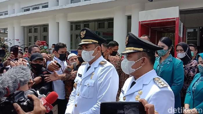 Wali Kota dan Wakil Wali Kota Medan, Bobby Nasution dan Aulia Rachman (Ahmad Arfah/detikcom)