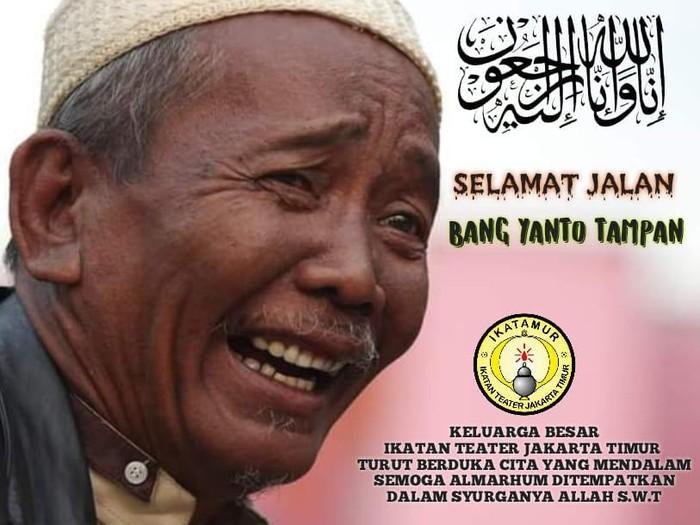 Komedian Yanto Tampan meninggal dunia