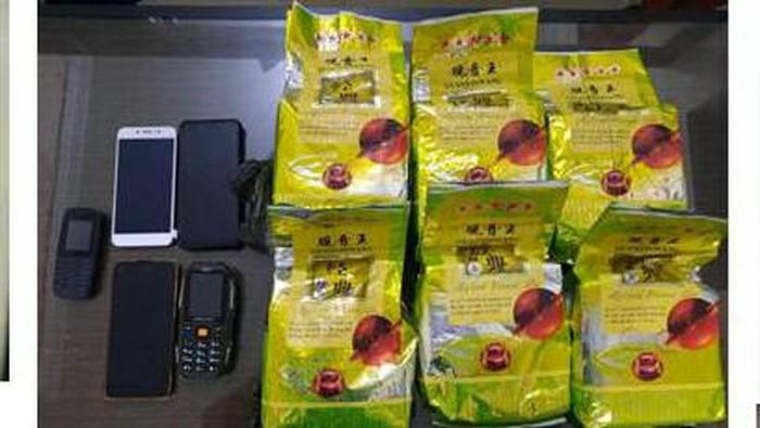 6 Kg sabu yang disita Polda Sumut dari 3 pengedar di Binjai dan Deli Serdang