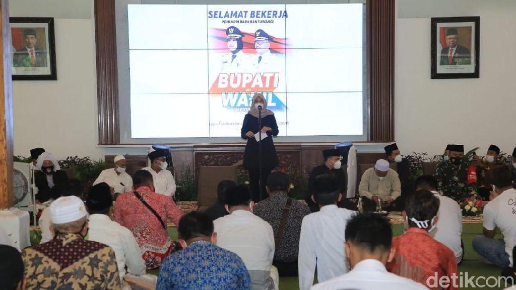 Hari Pertama Menjabat, Bupati Ipuk Silaturahmi Bersama Lintas Elemen