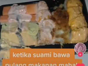 Dapat Order Fiktif, Keluarga Ojol Ini Terpaksa Makan Sushi Padahal Tak Doyan