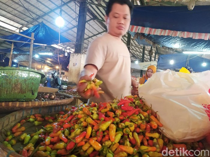Pedagang Cabai Rawit di Cianjur