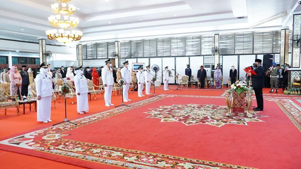 Lantik 6 Kepala Daerah, Gubernur Sumsel: Jangan Banyak di Jakarta