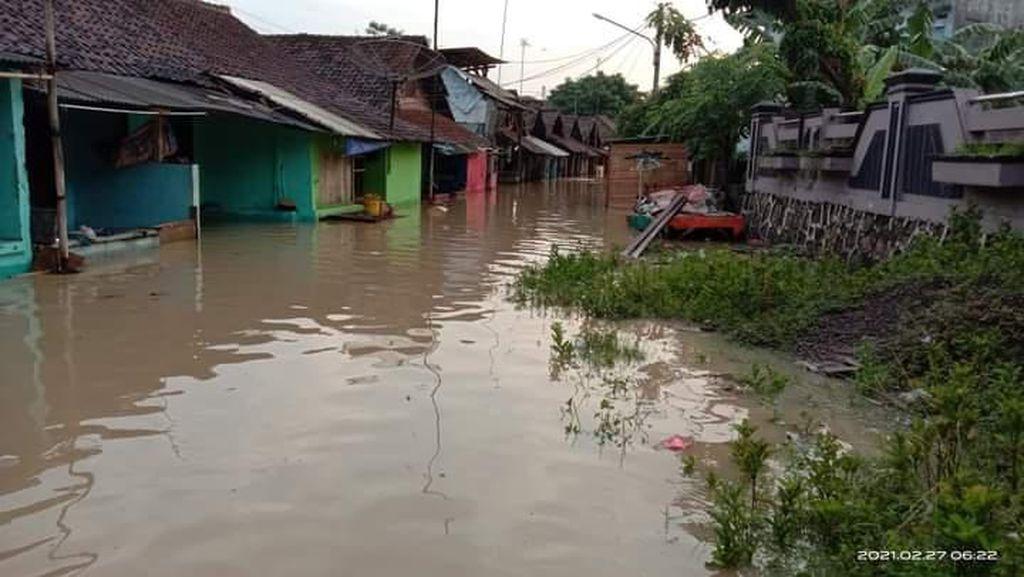 Hujan Deras Semalam, Permukiman Warga di Cilegon Terendam Banjir