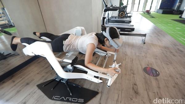Nah, ini dia Icaros, alat olahraga yang pakai VR. Foto: (Bonauli/Mimo/detikcom)