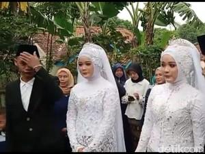 Suami-Istri Kembar Viral Nikah Barengan, Ini Kisah Lucu Mereka