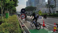 Sabtu Pagi, Goweser Padati Jalur Sepeda Permanen Sudirman-Thamrin