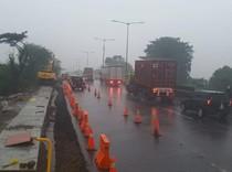 Ruas Tol Surabaya-Gempol yang Longsor Selesai Diperbaiki