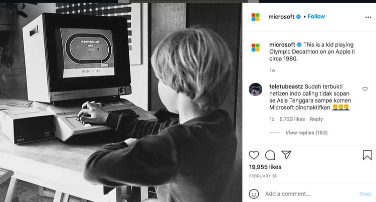Instagram Microsoft