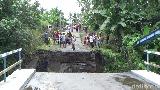 Diterjang Banjir Lahar Semeru, Jembatan Penghubung Antar Kecamatan Ambruk
