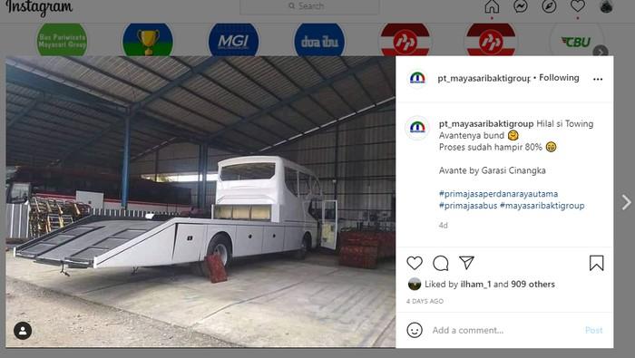 Ketika bus penumpang dimodifikasi jadi mobil towing