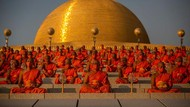 Potret Perayaan Magha Puja di Thailand yang Digelar Saat Pandemi