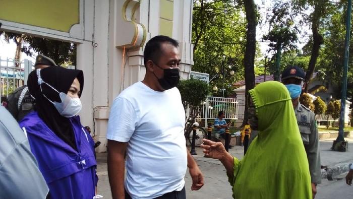 Wakil Wali Kota Medan Aulia Rachman saat menyambangi Lapangan Merdeka (Foto: Ahmad Arfah/detikcom)
