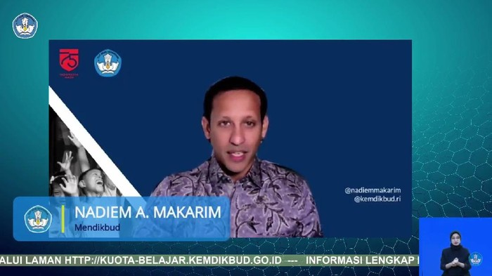 Mendikbud Nadiem Makarim