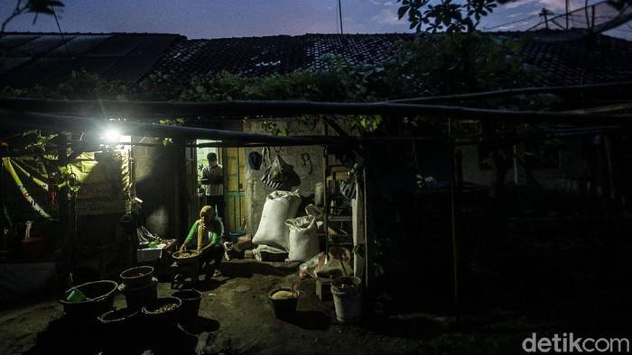 Murjiwati (50) menyiapkan bahan-bahan jamu untuk dijualnya di Desa Kiringan, Bantul, Kamis (18/2/2021).