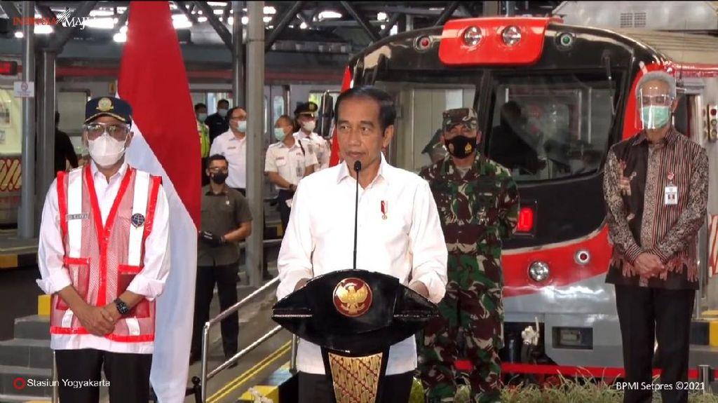 Resmikan KRL Yogya-Solo, Jokowi: Lebih Cepat dan Ramah LIngkungan