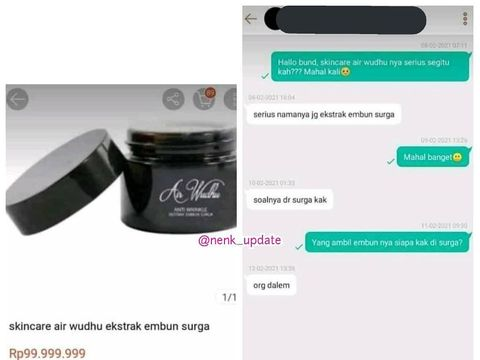 Skincare air wudhu viral di media sosial.