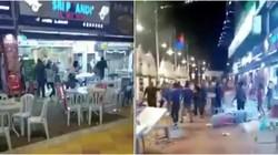 Duh! Belasan Pria Ngamuk Lempar Kursi karena Dilarang Makan di Restoran