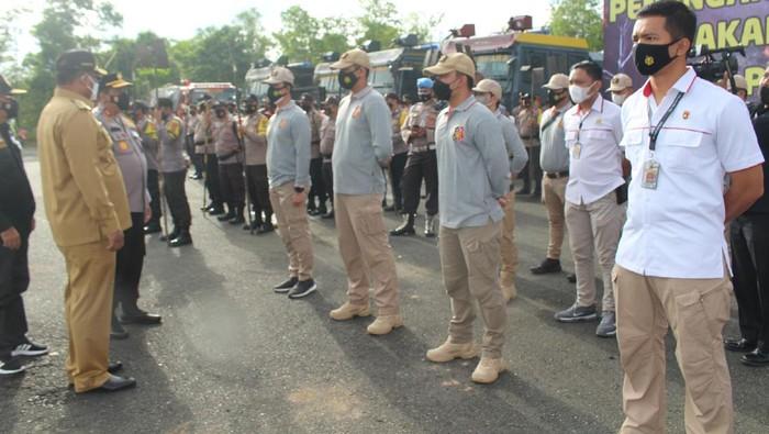 Kapolda Kalsel Pastikan Tindak Tegas Pembakar Hutan, Tak Ada Tawar Menawar (Foto: Risanta/detikcom)