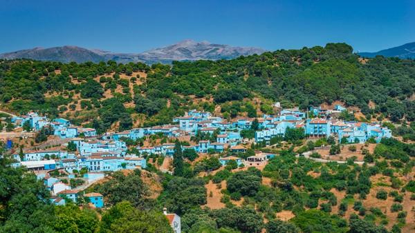 Kota Juzcar di Provinsi Malaga, Andalusia, selatan Spanyol. (Getty Images/iStockphoto)