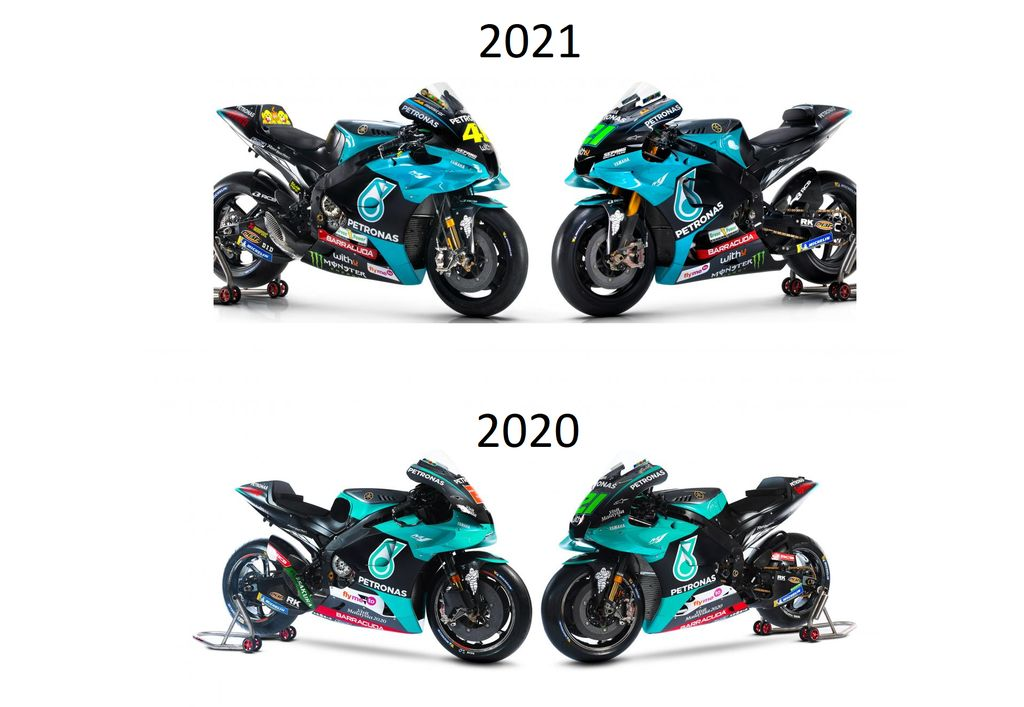 Motor Yamaha M1 tim Petronas SRT kini lebih banyak sponsornya