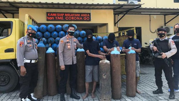 Pencurian Tabung Oksigen di Jakut (Dokumen dari Polisi)
