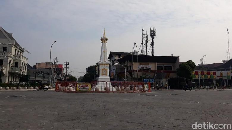 Tugu Pal Putih Yogyakarta, Selasa (2/3/2021).