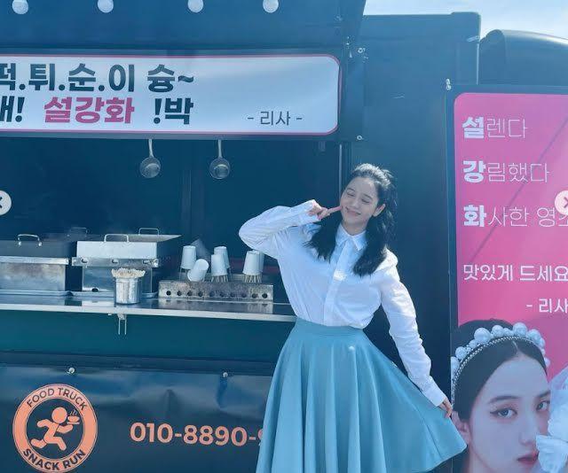 Sibuk Syuting 'Snowrop', Jisoo dapat Kiriman Coffee Truck dari Personel BLACKPINK