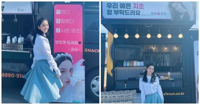 Sibuk Syuting Snowrop, Jisoo dapat Kiriman Coffee Truck dari Personel BLACKPINK