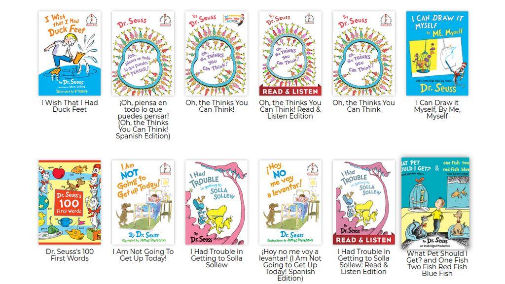 Picu Kontroversi, Buku Anak Dr Seuss Dicoret dari Daftar Bacaan Warga AS