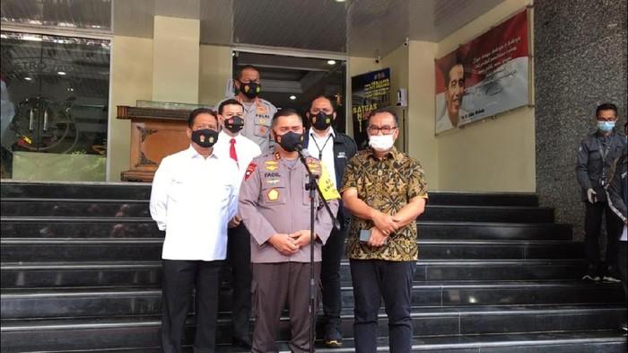 Kapolda Metro Jaya Irjen Fadil Imran menjelaskan tujuan rapat koordinasi dengan Kementerian ATR untuk meningkatkan kerja sama memberantas mafia tanah, Rabu (3/3/2021).