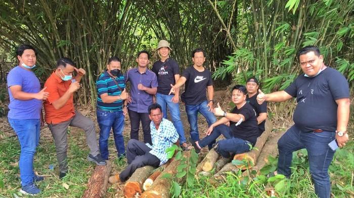 Pencurian pohon jati di Palembang