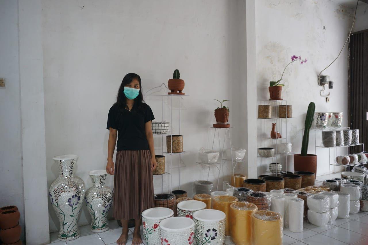Penjual gerabah di Bantul